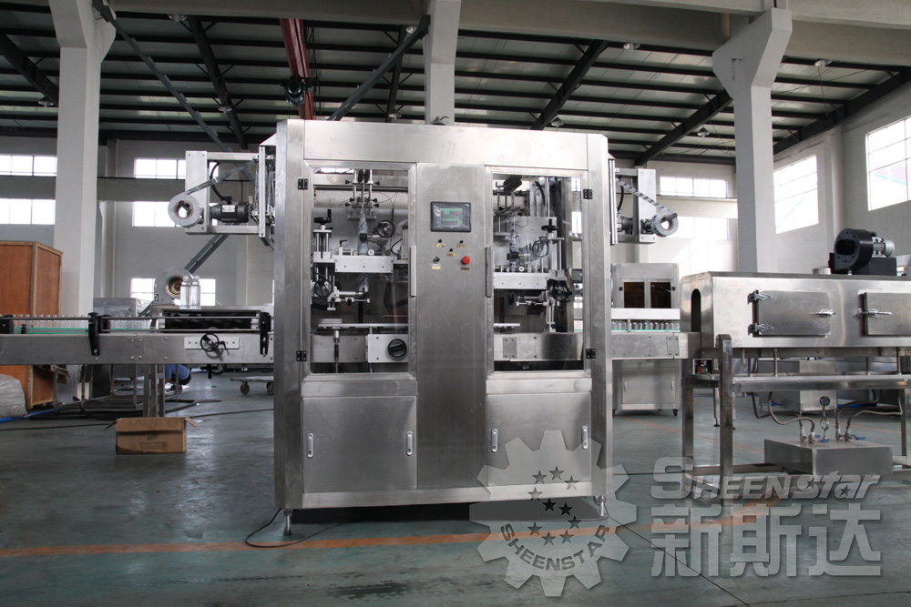 Automatic PET / Plastic / Water Bottle Label Sleeve Shrink Equipment