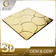 Home Interior Golden 3D Mirror Designs Metal Ceiling Ceiling Panel
