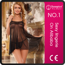 Hot mature women night wear lace lingerie sexy babydoll