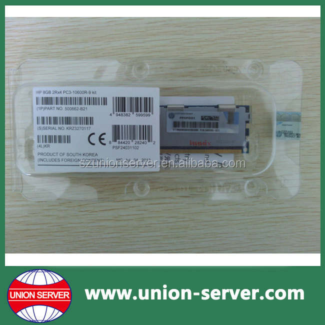 500662-B21 500205-071 501536-001 8GB PC3-10600R Ram For HP Server