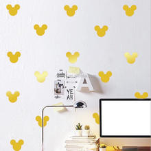 DEMI Wholesale rainbow polka dot wall stickers removable diy wall sticker