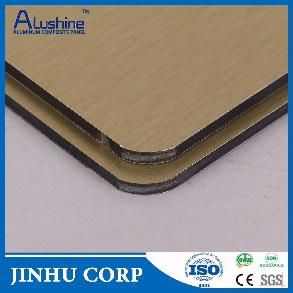 china low price products brushed building decorative material composite panel aluminum