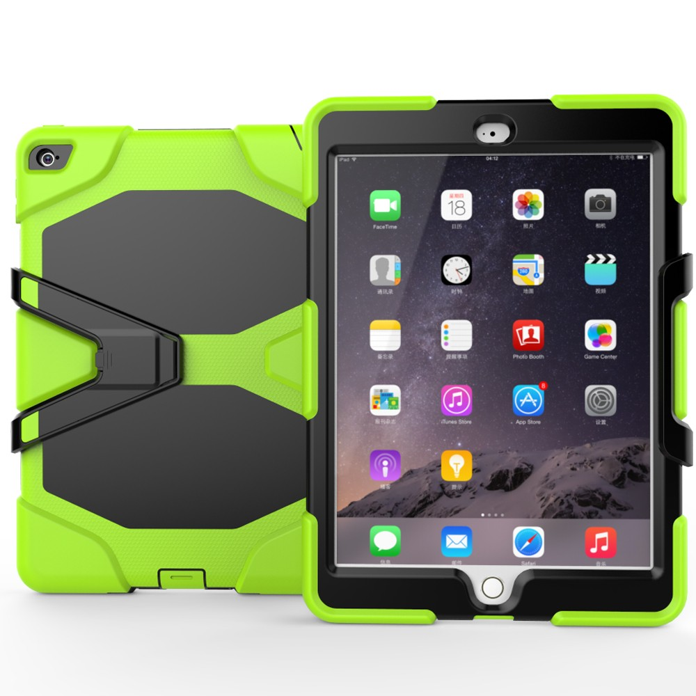 12 Colors Available Heavy Duty Stand Cover Case For Apple iPad Air 2 Shockproof Case