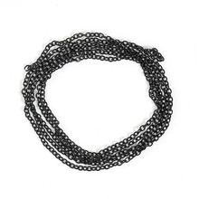 Jewelry Findings Black Iron Based Alloy Link Cable Chain
