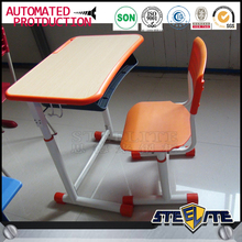Cheap price used school furniture with plastic table and chair