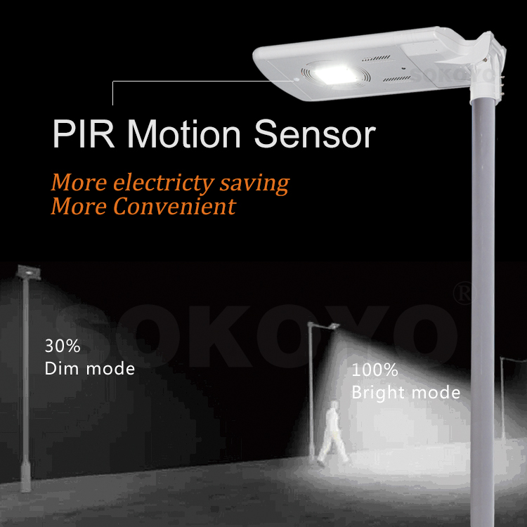 SOKOYO LED integrated motion sensor portable solar street light
