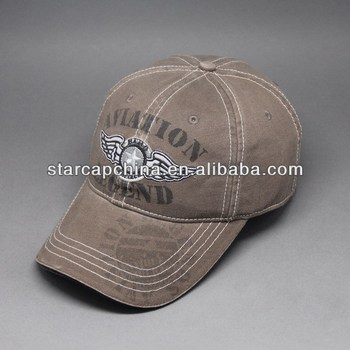 WASHED EMBROIDERY BASEBALL CAP