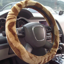 Personalized Australian Sheepskin Steering Wheel Cover With Grip