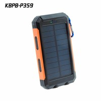 Solar Charger IP68 Waterproof Power Bank 10000 mah Dual USB Output for Smartphone
