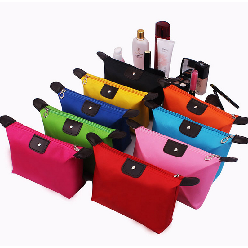 Multi Color Travel Toiletry Kit Foldable Portable Waterproof Custom Cosmetic Pouch