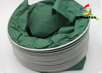 Eco - Friendly Green High Temperature Flexible Duct , PVC High Pressure Flex Duct