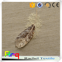 High class embroidered feather embroidery natural curtain fabric- European/ French/ New Indian luxury style curtain