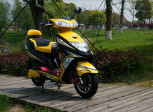 cool yellow color manufacturer Environment friendly e scooter motorcycle