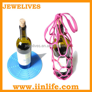 Wholesale silicone cute gift wine accessories set