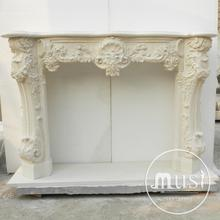 european traditional statuary carved butane fireplace