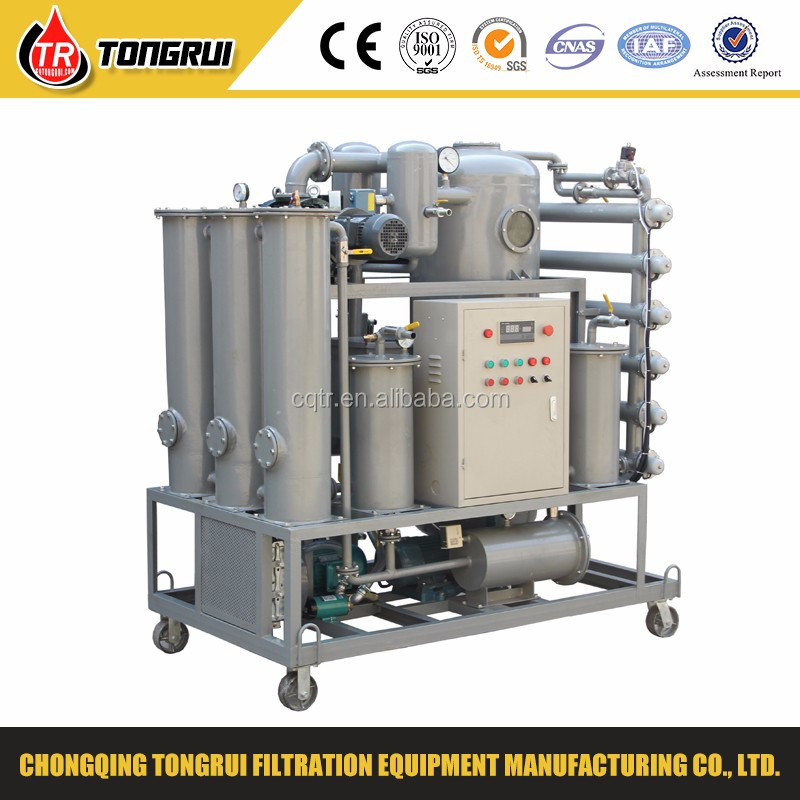hight vacuum automation lubrication oil purifier/waste lube oil recovery machine