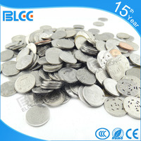 Top selling made in China shopping embossed grooved token coin