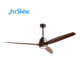 Europe style 60inch solid wood decorative DC ceiling fan with LED light