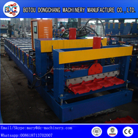 840 Classic Roofing Sheet Colored Steel Glazed Tile Metal Coil Roll Forming Machine