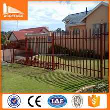 pvc coated metal edging garden fence/European style palisade fence/many color triple point palisade fence
