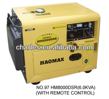 6.0KVA SILENT TYPE AIR COOLED DIESEL GENERATOR SINGLE PHASE