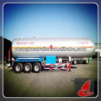 Double walled,7200 gallon,Liquid Nitrogen Lorry StainlessTanker Trailer