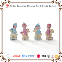 Baby gift pink and blue polyresin baby figurines