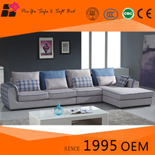 Modern Blue fabric cover sofa set living room furniture from ikea supplier