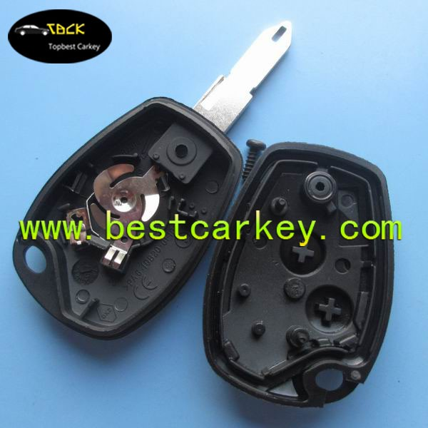 Without logo 2 button key remote case with battey clamp car keys shell case shell key