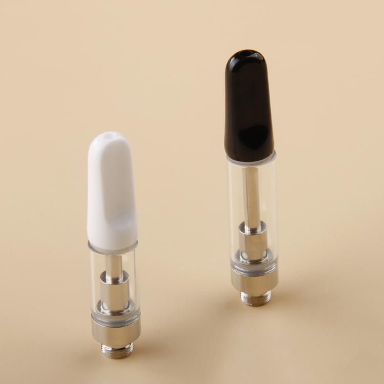 Refillable Ceramic mouthpiece coil cbd cartridges .5ml 510 cbd cartridge e cig