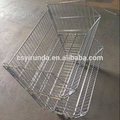 supermarket stackable wire basket with wheels