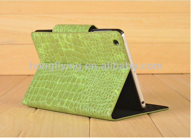 New Arrival Eternal series crocodile PU leather case for ipad mini,Fashion and popular all color are available