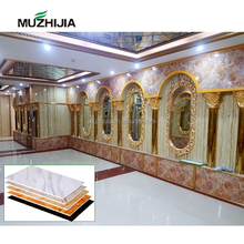 High gloss waterproof UV PVC marble plastic sheet wall panels for bathroom shower wall decoration tiles