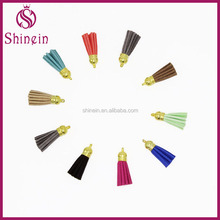 hot sale colorful faux leather tassels for DIY craft scripbooking