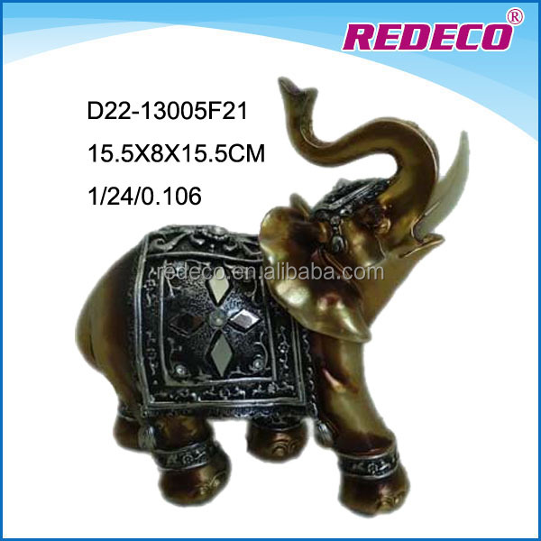 Polyresin indoor decorative animal elephant statues for home decor