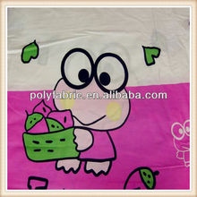 Polyester Bedding Fabric Frog Print