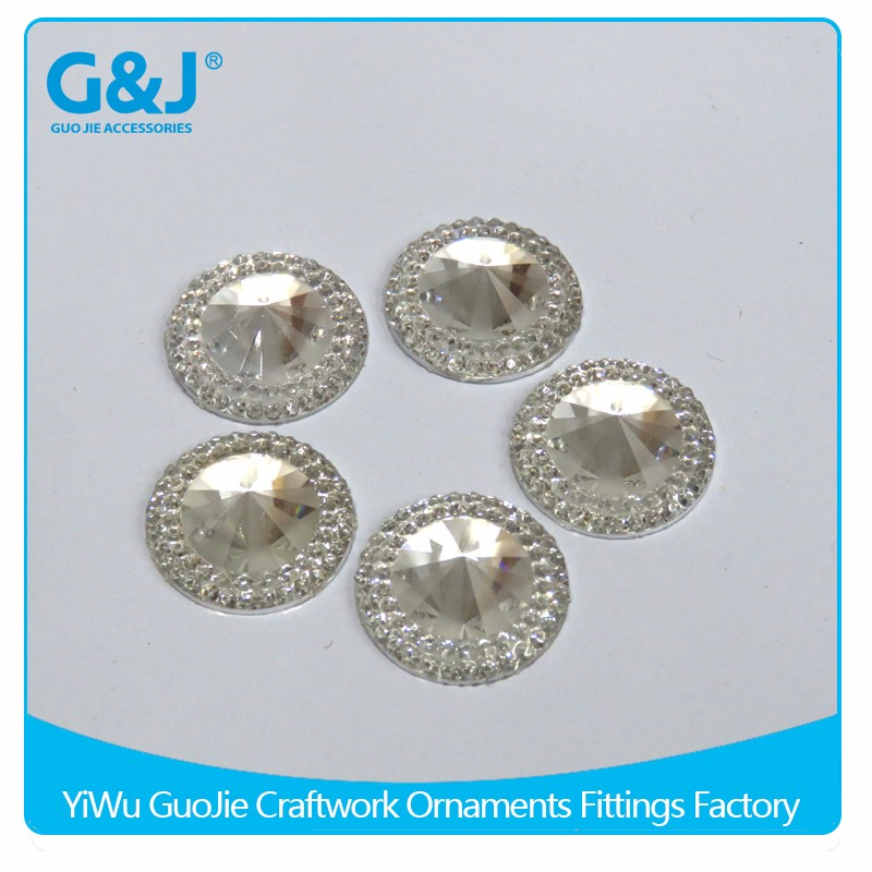 Guojie brand Wholesale Round Shape Clothing Accessory rhinestone <strong>crystal</strong>