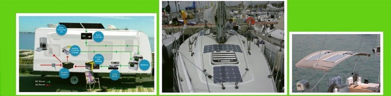 200W high efficiency flexible solar panel for RV Boat