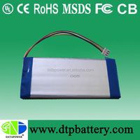 Li ion polymer rechargeable lipo battery 3.7v 2250mah for solar system