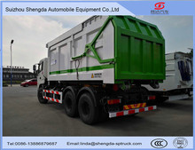 6*4 garbage truck 15 tons detachable refuse collection truck road/household waste collection vehicle