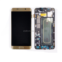 Replacement Original Mobile Phone Parts Full LCD Complete LCD Touch Screen Digitizer Assembly For Samsung Galaxy S6 Edge Plus