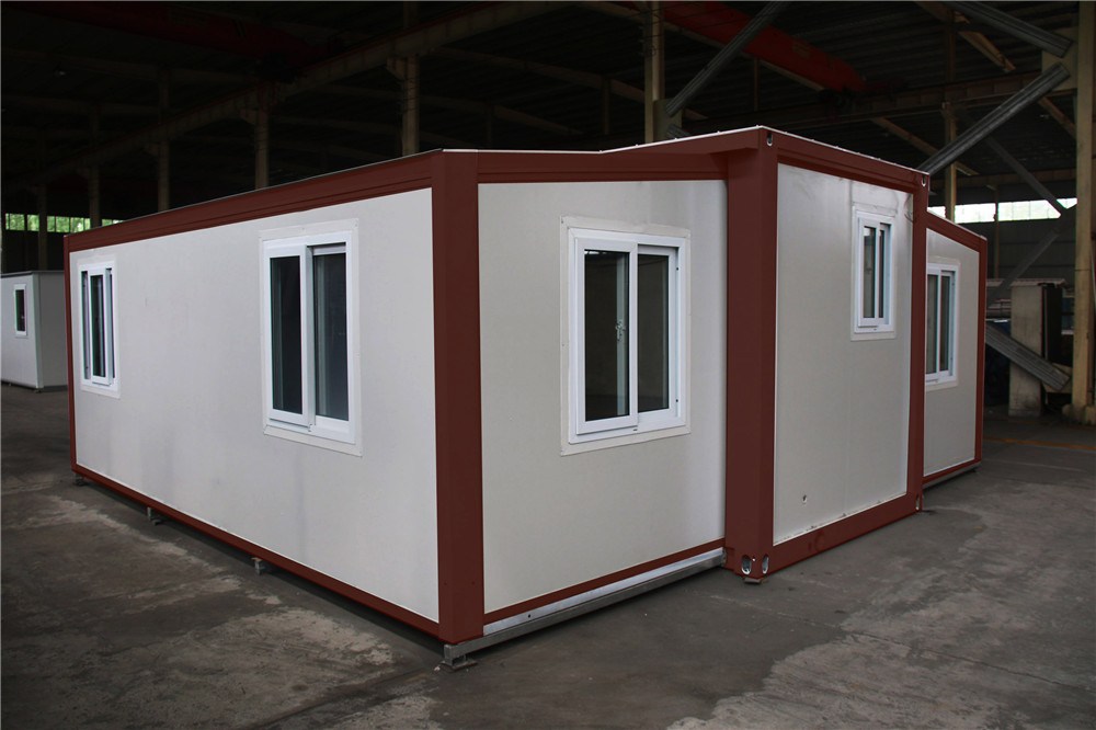 prefabricated modular luxury fireproof folding container homes for sale usa with heat insulation