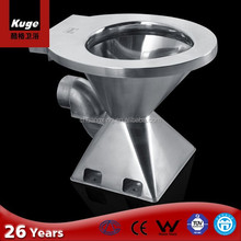 Stainless steel small p-trap type of toilet bowl