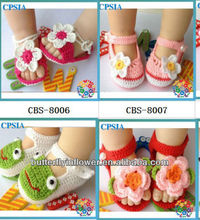Cheap Lovely Crochet Baby Girls Shoes Wholesale