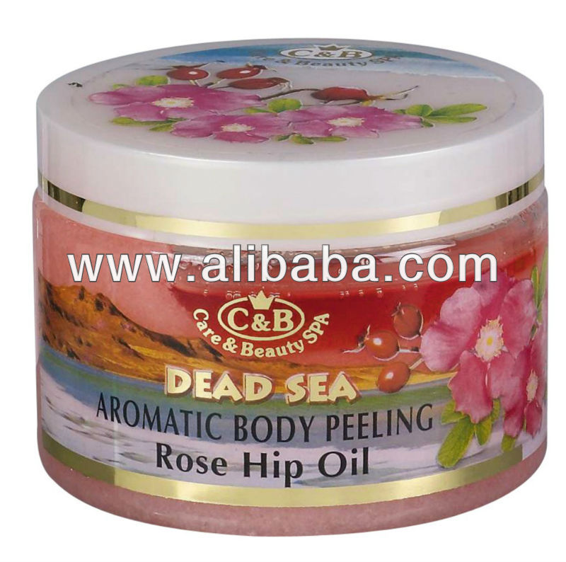 Body Peeling Contains Aromatic Oils in Combination with Dead Sea Salt