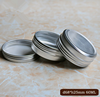 wholesale empty aluminum candle tin jars and aluminum lid. metal can and lid for body butter