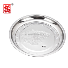 Size 30cm Cheap Price Stainless Steel flower tray/ Stainless Steel Plates Dishes