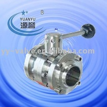 sanitary flange connection butterfly valve