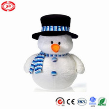 Snowman In Top Hat And Scarf xmas cute soft stuffed plush lovely toy