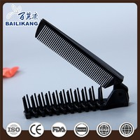 Travel use folding hairbrush hotel disposable comb PP material